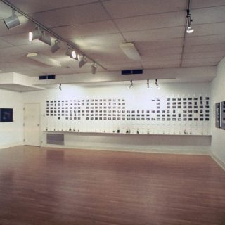 Crowd of Drifters (installation view, Process Grid and Trophy Photos), 2005